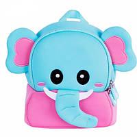 Nohoo Рюкзак маленький Розовый слоненок