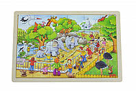 Goki Пазл деревянный Зоопарк 57808