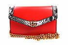Стильная сумка GUCCI эко-кожа, цвет красный, прямоугольная, маленькая, фото 2