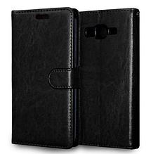 Кожаный чехол-книжка для Samsung Galaxy Grand Prime G530 G530H G531 черный