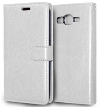 Кожаный чехол-книжка для Samsung Galaxy Grand Prime G530 G530H G531 белый