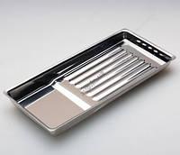 Лоток металлический на 7 инструментов прямоугольный