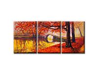 Модульная Картина Glozis Golden Autumn 50х35х3 шт.