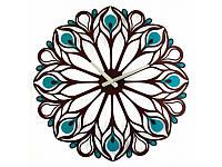 Настенные Часы Glozis Peacock Feather арт B-015