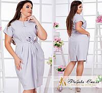 Стильное женское платье с карманами, батал