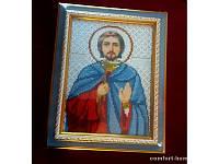 Икона вышита бисером именная Анатолий
