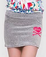 Велюровая мини юбка (625 sk)