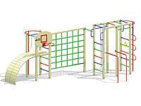 Гимнастический комплекс с брусьями и щитом баскетбольным К6-1