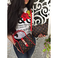 Сумка женская стильная 2 в 1 LOUIS VUITTON,интернет магазин женских сумок