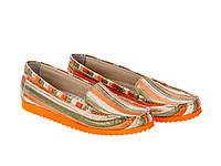 Мокасины Etor 5446-56-116 37 оранжевые, фото 1