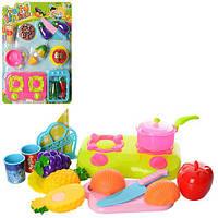 Продукты JJL007-2 (72шт) на липучке, досточка, посуда, плита, 2вида, на листе,42-31-5см