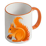 Чашка с Вашим дизайном Two Tone Mug, с цветной ручкой и каймой, фото 5