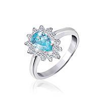 Серебряное кольцо с фианитом КК2ФТ/383 - 19,0