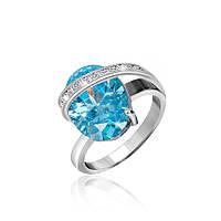 Серебряное кольцо с фианитом КК2ФТ/383 - 17,4