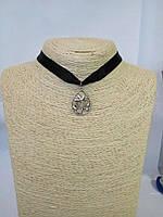 Чокер на шею с подвеской Цветы цветок лента Колье Ожерелье Шарм Панк Ретро ХИТ!