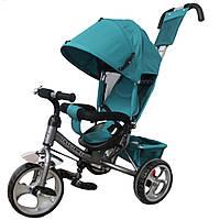 *Детский трёхколёсный велосипед Tilly Trike колеса на пене (Green/Grey) арт. 343