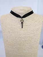 Чокер на шею с подвеской Ключ ключик любовь лента Колье Ожерелье Шарм Панк Ретро ХИТ!
