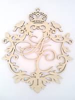 """Монограмма на свадьбу, герб свадебный """"Монограмма с короной"""""""