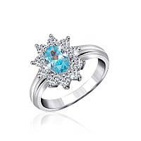 Серебряное кольцо с фианитом КК2ФТ/386 - 19,0
