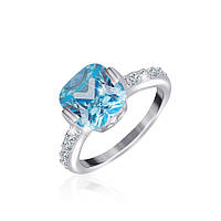 Серебряное кольцо с фианитом КК2ФТ/386 - 19,7