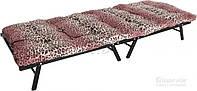 Раскладушка кровать каркасная 190 см с ламелями и матрасом