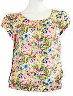 Блузка с цветочным рисунком - Розовый с цветком