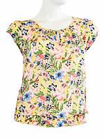 Блузка с цветочным рисунком - Желтый с цветком