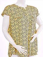 Женская рубашка с коротким рукавом - желтый