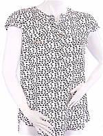 Женская рубашка с коротким рукавом - белый