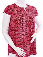 Женская рубашка с коротким рукавом - красный