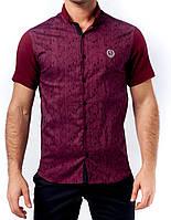 Мужская рубашка TOBETO, 1207M-Burgundy