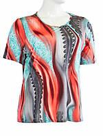 Блуза женская - Красно-голубой