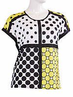 Блуза в горошек - Салатовый с черным
