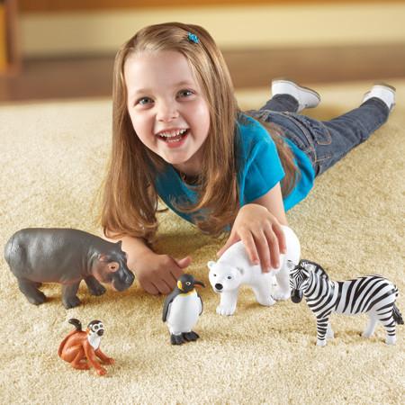 """Набір великих тварин """"Зоопарк"""" від Learning Resources Jumbo Zoo Animals"""