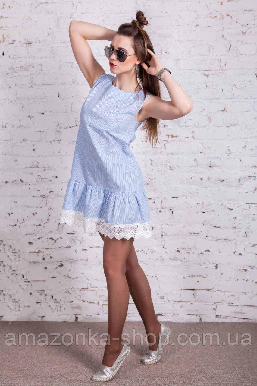 Женское легкое платье - морской бриз 2017 - Код пл-11