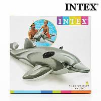 Детский надувной плотик дельфин INTEX