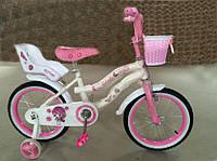 Велосипед двухколесный с корзинкой Bibarbie 16 дюймов ***