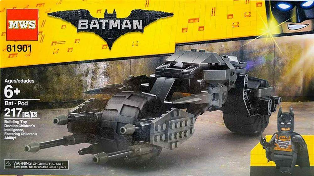 "Конструктор 81901 The Batman Movie ""Бэтцикл"" 217 деталей"