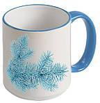 Чашка с Вашим дизайном Two Tone Mug, с цветной ручкой и каймой, фото 8