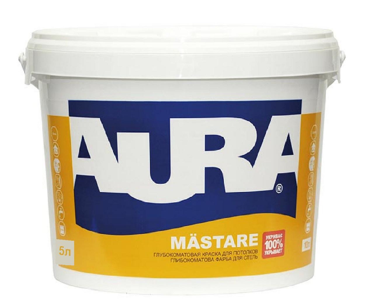 Краска  акриловая AURA MASTARE для стен 5л