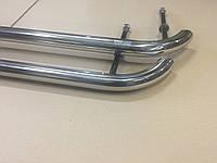 Пороги на Ваз 2101-2107 труба нержавейка D42 загнутые