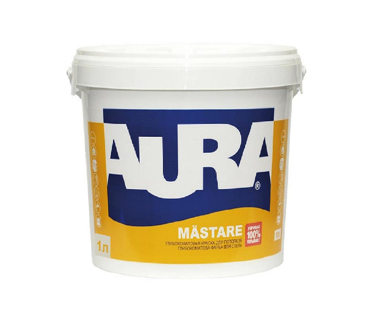 Краска  акриловая AURA MASTARE для стен 1л