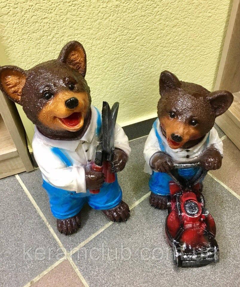 Декоративные мишки-садовнки