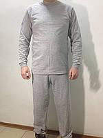 Тёплое белье мужское с начёсом серое 180.0, 58, Зима, Хлопок
