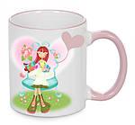 Чашка с Вашим дизайном Two Tone Mug, с цветной ручкой и каймой, фото 6