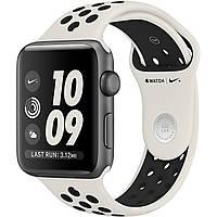 Apple Watch NikeLab 42mm Space Gray Aluminum Case with Light Bone/Black Nike Sport Band (MQ1D2)
