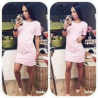 Женское модное платье цвета  :  черный,  бутылка,  бордо,  бежевый,  меланж,  розовый ЗР1010