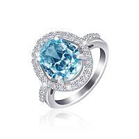 Серебряное кольцо с фианитом КК2ФТ/390 - 19,0
