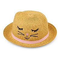 """Детская шляпа """"Милый котёнок"""" 0-6 мес"""