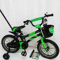 Двухколесный велосипед Hammer S-500 Хамер на 14 д зеленый